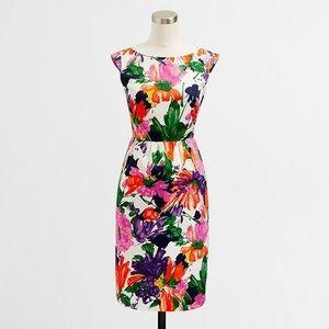 J.Crew Cora Floral Sheath Dress Size 4 Pockets